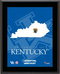"Kentucky Wildcats Sublimated 10.5"" x 13"" State Plaque"