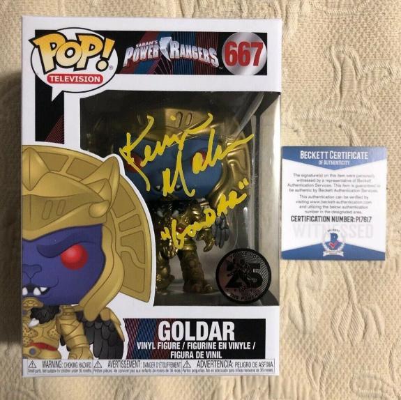 Kerrigan Mahan Signed Autographed Goldar Power Rangers Funko Pop BECKETT COA