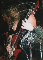 KERRY KING of SLAYER Signed In Concert 11x14 Inch Large Music PHOTO
