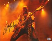 """KERRY KING Signed Autographed """"SLAYER"""" 11x14 Photo BECKETT BAS #C34882"""