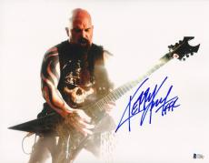 """KERRY KING Signed Autographed """"SLAYER"""" 11x14 Photo BECKETT BAS #C34883"""