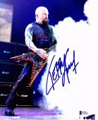 KERRY KING Signed Autographed SLAYER 11x14 Photo BECKETT BAS #C92453