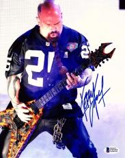 KERRY KING Signed Autographed SLAYER 11x14 Photo BECKETT BAS #C92454