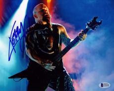 KERRY KING Signed Autographed SLAYER 11x14 Photo BECKETT BAS #C92456