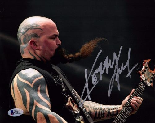 KERRY KING Signed Autographed SLAYER 11x14 Photo BECKETT BAS #C92457