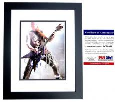 Kerry King Signed - Autographed SLAYER Concert 8x10 inch Photo with PSA/DNA Certificate of Authenticity (COA) BLACK CUSTOM FRAME