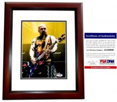 Kerry King Signed - Autographed SLAYER Concert 8x10 inch Photo with PSA/DNA Certificate of Authenticity (COA) MAHOGANY CUSTOM FRAME