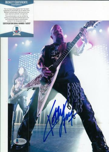 KERRY KING signed (SLAYER) *Reign In Blood* 8X10 photo BECKETT BAS T42937