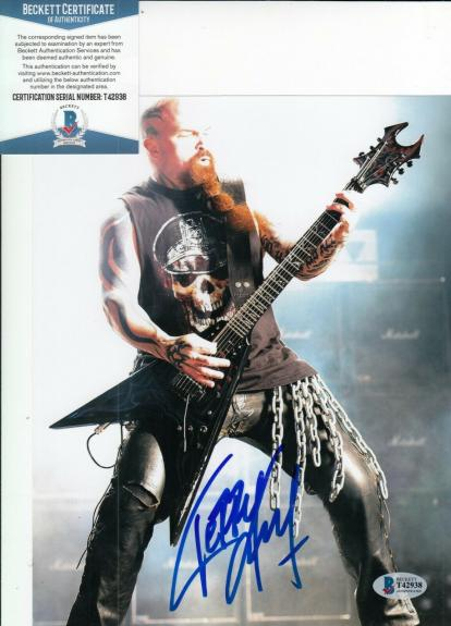 KERRY KING signed (SLAYER) *Reign In Blood* 8X10 photo BECKETT BAS T42938