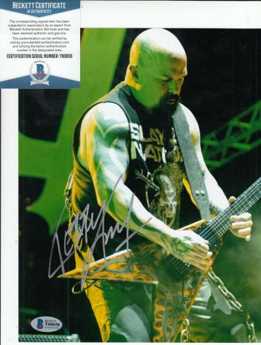 KERRY KING signed (SLAYER) *Reign In Blood* 8X10 photo BECKETT BAS T60656