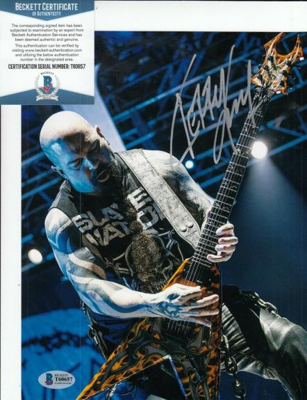 KERRY KING signed (SLAYER) *Reign In Blood* 8X10 photo BECKETT BAS T60657