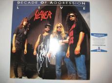 KERRY KING (Slayer) Signed DECADE OF AGGRESSION Album w/ Beckett COA