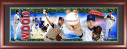 Kerry Wood Chicago Cubs Framed Unsigned Panoramic Photograph with Suede Matte