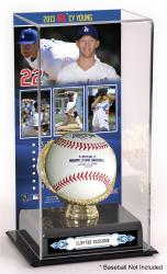 Clayton Kershaw Los Angeles Dodgers 2013 National League Cy Young Award Gold Glove with Image Display Case - Mounted Memories