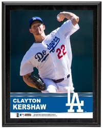 Clayton Kershaw Los Angeles Dodgers Sublimated 10.5'' x 13'' Plaque - Mounted Memories
