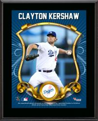Clayton  Kershaw Los Angeles Dodgers Sublimated 10.5'' x 13'' Stylized Plaque - Mounted Memories