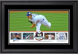 Clayton Kershaw Los Angeles Dodgers Framed Panoramic with Piece of Game-Used Ball - Limited Edition of 500
