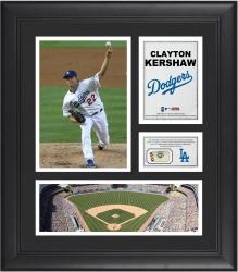 "Clayton Kershaw Los Angeles Dodgers Framed 15"" x 17"" Collage with Game-Used Baseball"