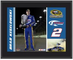 Brad Keselowski 2012 Sprint Cup Series Champion 10 1/2 x 13 Sublimated Color Plaque - Mounted Memories