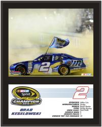 Brad Keselowski 2012 Sprint Cup Series Champion 12x15 Sublimated Plaque - Mounted Memories