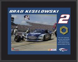 Brad Keselowski Sublimated 8'' x 10'' Plaque with Lug Nut-Limited Edition of 502 - Mounted Memories