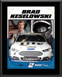 "Brad Keselowski Sublimated 10.5"" x 13"" Stylized Composite Plaque"