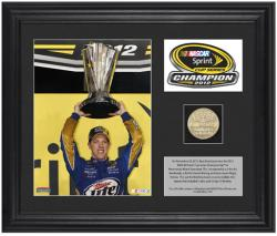 Brad Keselowski 2012 NASCAR Sprint Cup Series Champion Framed Coin - Mounted Memories