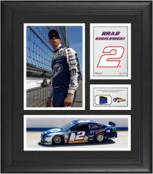 Brad Keselowski Framed 15'' x 17'' Collage with Race-Used Tire - Mounted Memories