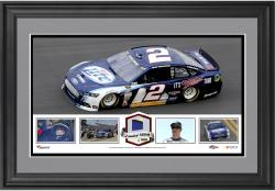 Brad Keselowski Framed Panoramic with Race-Used Tire-Limited Edition of 500 - - Mounted Memories