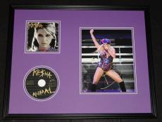 Kesha Signed Framed 16x20 Photo & CD Display Animal Ke$ha