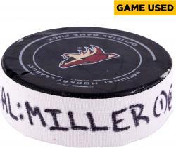 Kevan Miller Boston Bruins December 6, 2014 Game-Used Goal Puck vs. Arizona Coyotes