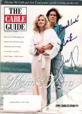 KEVIN BACON and KYRA SEDGWICK Signed August 1996 CABLE GUIDE