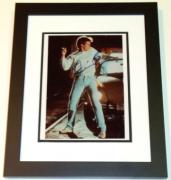 "Kevin Bacon Autographed ""Footloose"" 8x10 Photo BLACK CUSTOM FRAME"