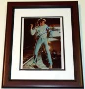 "Kevin Bacon Autographed ""Footloose"" 8x10 Photo MAHOGANY CUSTOM FRAME"