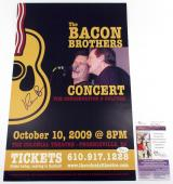Kevin Bacon Signed 11 x 17 The Bacon Brothers Concert Promo Poster JSA AUTO