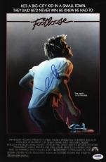 Kevin Bacon Signed Footloose 10x15 Movie Poster Psa Coa V73563