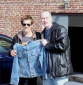 Kevin Bacon Signed Screen Work Jeans Jacket From Tremors Rare Movie History!