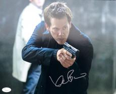 Kevin Bacon The Following (Ryan Hardy) Signed 11x14 Photo JSA