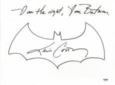 "Kevin Conroy ""I Am The Night, I Am Batman"" Signed Hand Drawn Sketch PSA #6A20363"