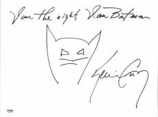 "Kevin Conroy ""i Am The Night, I Am Batman"" Signed Hand Drawn Sketch Psa #6a20364"