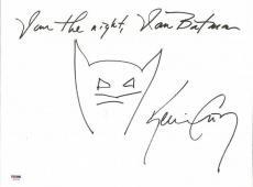"Kevin Conroy ""I Am The Night, I Am Batman"" Signed Hand Drawn Sketch PSA #6A20364"