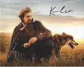 """KEVIN COSTNER as LIEUTENANT DUNBAR in the 1990 Movie """"DANCES with WOLVES"""" Signed 10x8 Color Photo"""