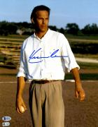 "Kevin Costner Autographed 11"" x 14"" Field of Dreams - Standing with Baseball in Hand Photograph - Beckett COA"