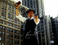 """Kevin Costner Autographed 11"""" x 14"""" The Untouchables - With Gun and Police Badge Photograph - Beckett COA"""