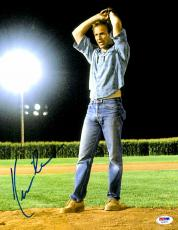"""Kevin Costner Autographed 11""""x 14"""" Field of Dreams Pitching Wind Up Photograph - PSA/DNA COA"""