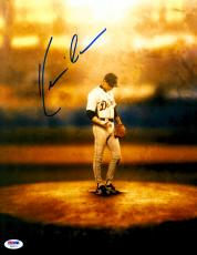 "Kevin Costner Autographed 11""x 14"" For Love of The Game Standing On Mound Photograph - PSA/DNA COA"