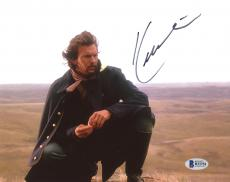 """Kevin Costner Autographed 8"""" x 10"""" Dances with Wolves Kneeling in Desert Photograph - Beckett COA"""
