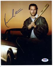 "Kevin Costner Autographed 8""x 10"" Field of Dreams Holding Bat Photograph -  PSA/DNA COA"