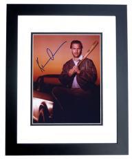 "Kevin Costner Autographed ""Bull Durham"" 8x10 Photo BLACK CUSTOM FRAME"