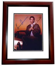 "Kevin Costner Autographed ""Bull Durham"" 8x10 Photo MAHOGANY CUSTOM FRAME"